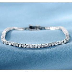 18K White Gold Plated Bracelet